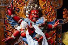 Dharmapala Statue In Tsemo Hom...