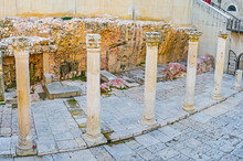 The Ruins Of Cardo Ancient Street, Jerusalem, Israel