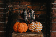 Pumpkins On Display At Home