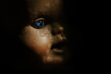 Close Up Of A Vintage Baby Dol...