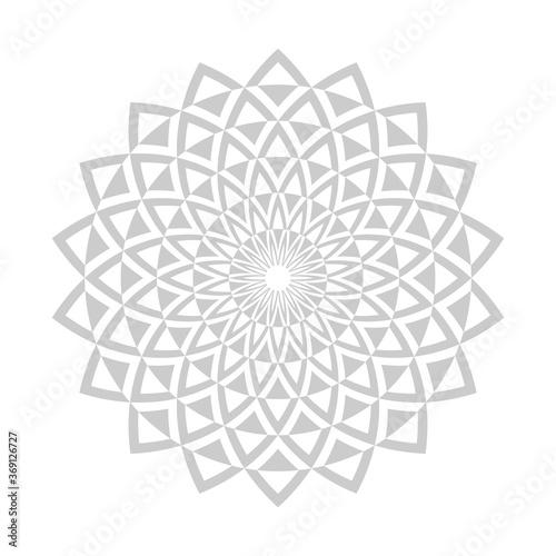 Obraz na plátně Abstract decorative circle design element.