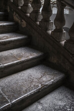 Marble Staircase In An Old Ita...