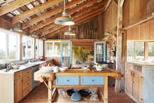 Kitchen In A Rustic Farmhouse