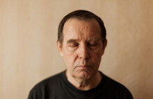 Senior Man With Closed Eyes