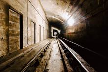 Brown Train Tunnel