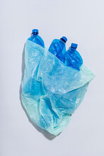 Too Many Plastic Bottles. We All Have To Limit Using Single-use Plastic