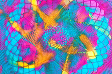Crochet Colorful Vibrant Abstract Background