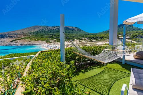 Obraz Beautiful sandy beach of Cala Mesquida, Mallorca, Balearic islands, Spain - fototapety do salonu