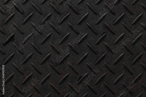 Obraz na plátne Black diamond plate texture and background seamless