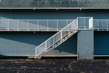 Stairway At Abandoned Motel