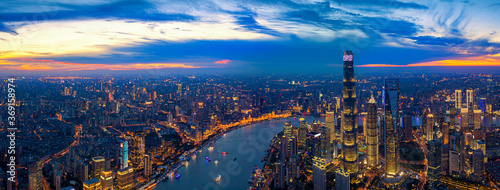 Shanghai city skyline - 369158974