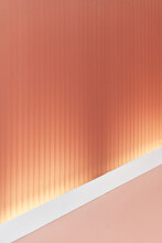 Warm Pink Wall With White Molding