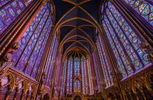 Looking Up In La Sainte Chapel...