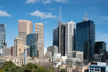 Melbourne City Skyline From An...