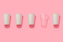 Paper Cups And Plastic Cups.