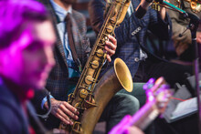 Concert View Of A Saxophonist,...