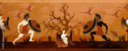 Tela Ancient Greece battle scene