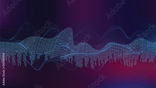Obraz na plátne Big data futuristic design
