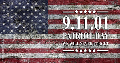 Photo Patriot Day of USA background on american flag