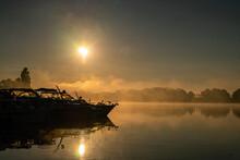 Müritz Lakes In A Foggy Sunri...