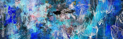 Obraz na plátně tulpen zeichnung malerei blumen trauer konzept karte