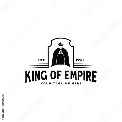 King Of Empire Logo Design. Kings Silhouette Shape. Fototapete