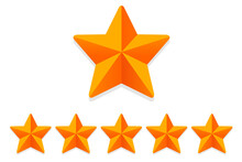 Rating Stars Rating. 6 Rate Review Ranking. Web Star Signs Vector.