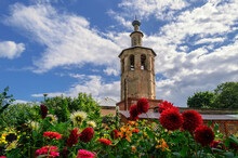 The Bell Tower Of The Cathedral Of The Smolensk Icon Of The Mother Of God. Ostashkov, Russia