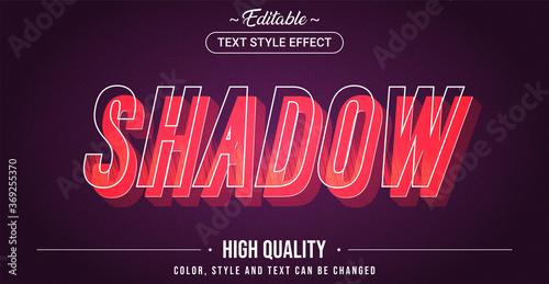 Obraz Editable text style effect - Shadow theme style. - fototapety do salonu