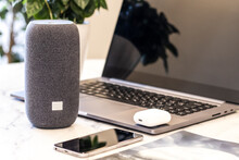 A Portable Speaker With Built-...