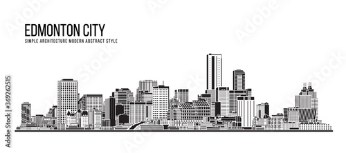 Cityscape Building Abstract Simple shape and modern style art Vector design - Edmonton city