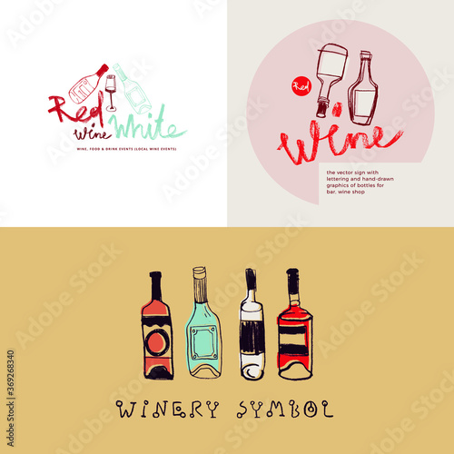 Cuadros en Lienzo Winehouse symbol and winery insignia