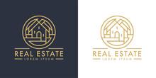 Real Estate Home Logo Line Ico...