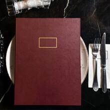 Red Restaurant Menu Book Top V...