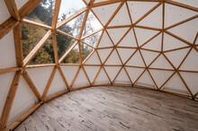 Interior Of Large Geodesic Woo...