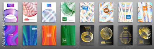 Fototapeta Abstract set minimal geometric cover design background. Business templates, annual report, modern brochure, flyer layout, poster. Vector eps10 obraz