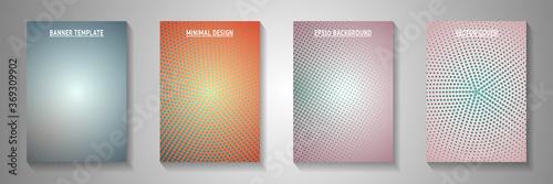 Minimalist circle screen tone gradation title page templates vector kit Wallpaper Mural
