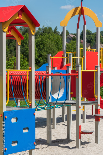 Fototapeta Empty Colorful Playground For Children