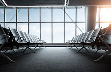 Empty Airport Terminal, Waitin...