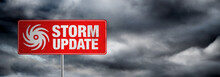 Storm Update Banner With Storm...