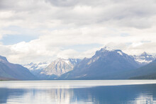 Lake McDonald With View Of Mountain-range In Background