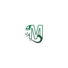 Chameleon Font, Letter Logo Ic...