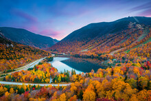 Beautiful Fall Colors In Franconia Notch State Park | White Mountain National Forest, New Hampshire, USA