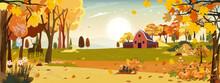 Autumn Landscaps With Fram Fie...