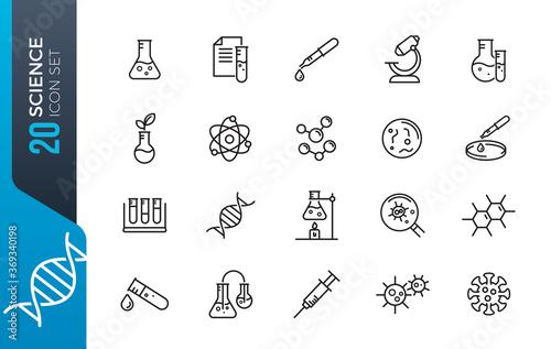 Fototapeta minimal science icon set obraz