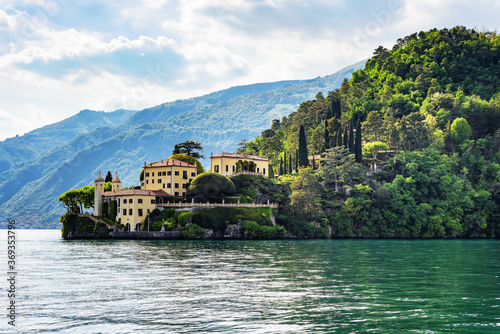 Lake Como, view of the Villa del Balbianello. Italy Fototapeta