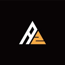 A Z Initial Logo Modern Triangle With Black Background