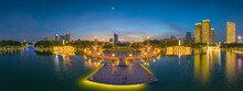 Night View Of Qiandeng Lake Pa...