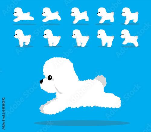 Fotografiet Animal Animation Sequence Dog Bichon Frise Cartoon Vector