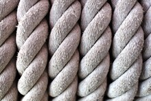 Closeup Image Of A Large Rope Used As A Background